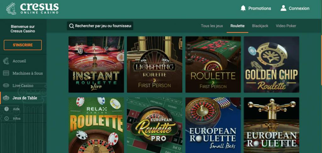 interface cresus casino