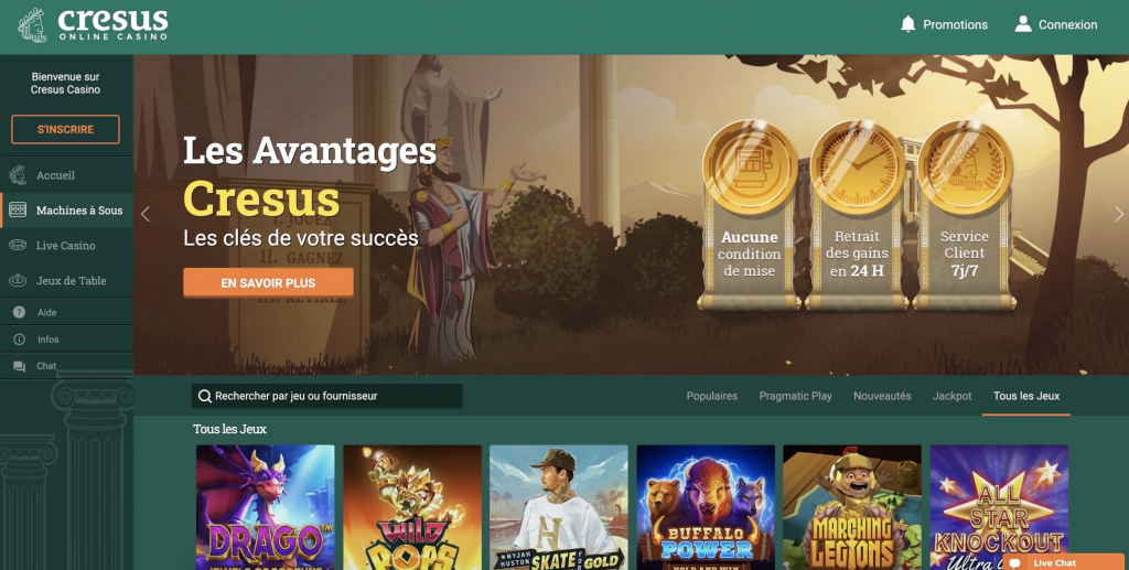 site casino cresus